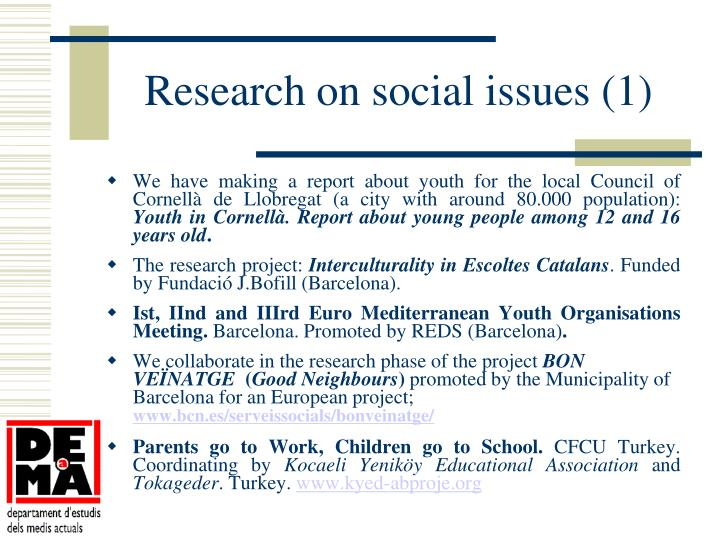 Research on social issues (1)