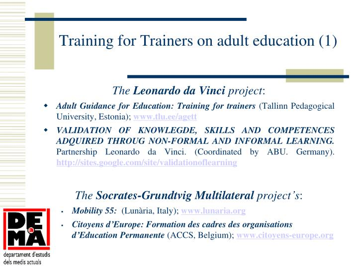 Training for Trainers on adult education (1)