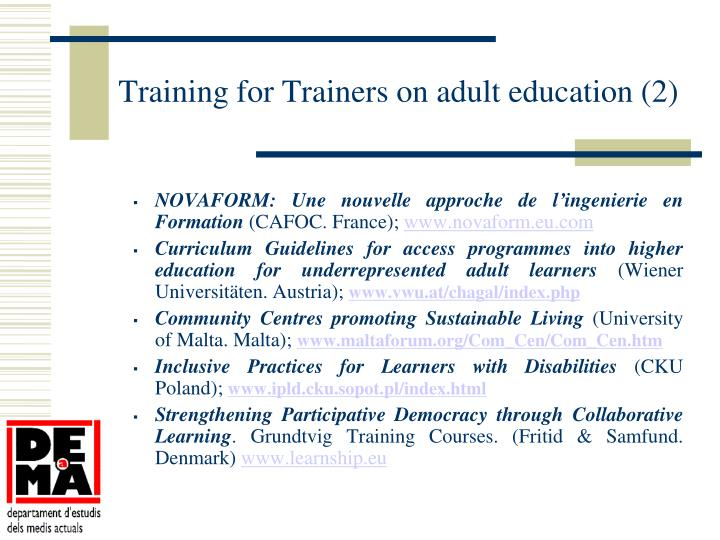 Training for Trainers on adult education (2)