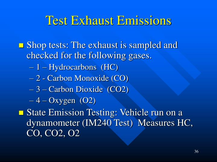 Test Exhaust Emissions