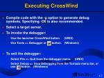 executing crosswind