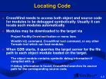 locating code