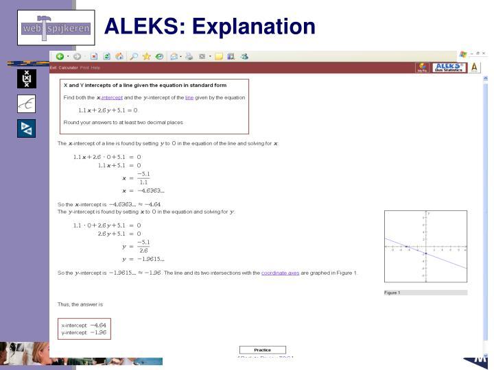 ALEKS: Explanation