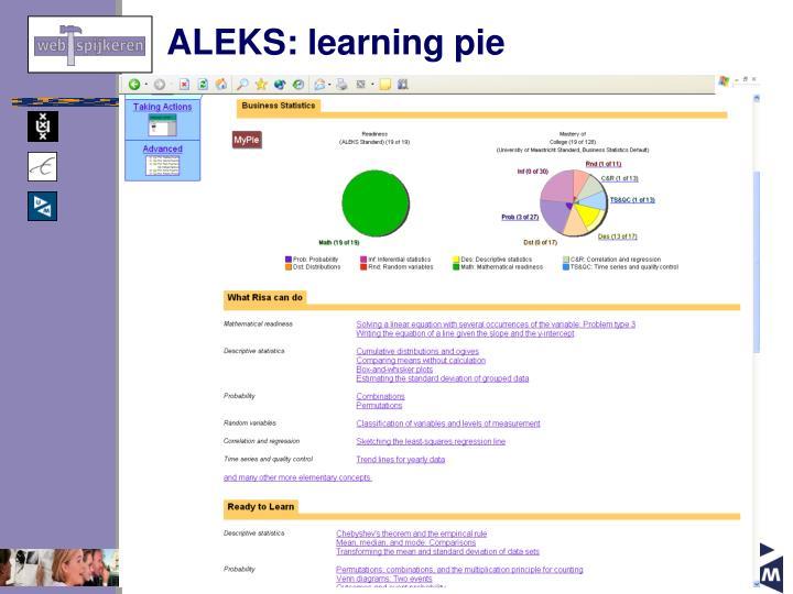 ALEKS: learning pie
