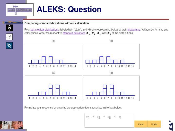 ALEKS: Question