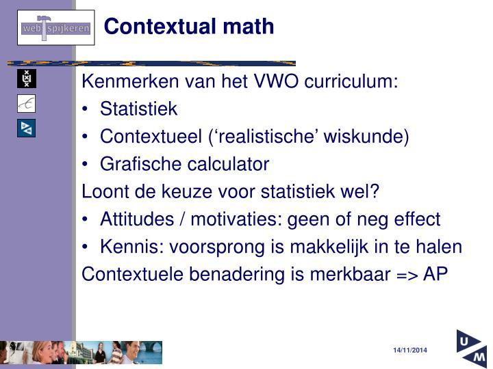 Contextual math