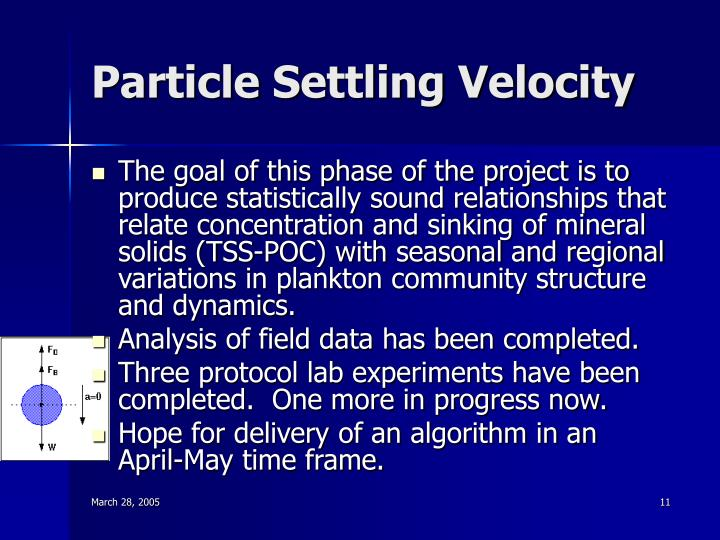 Particle Settling Velocity