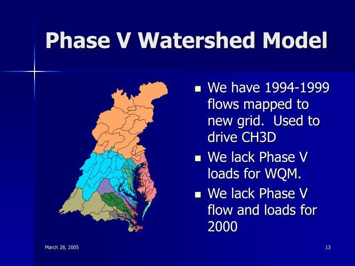 Phase V Watershed Model