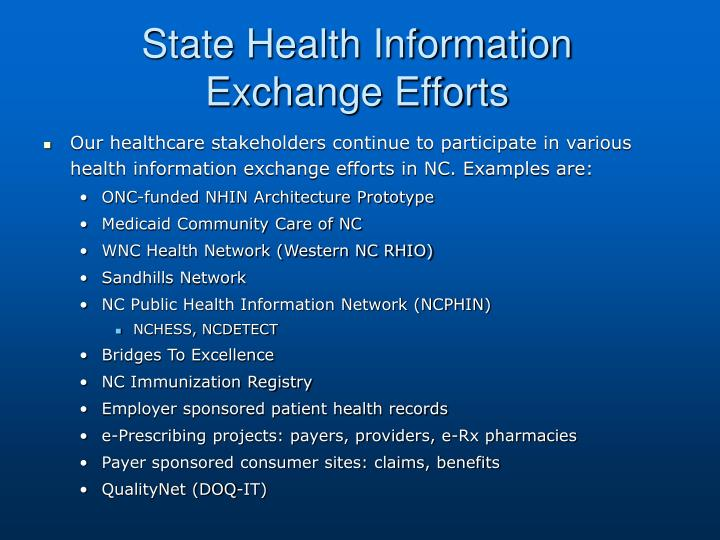 State Health Information