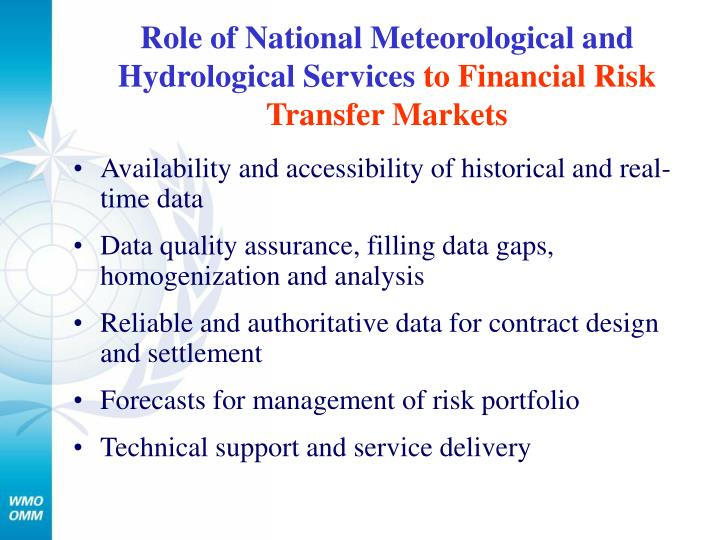 Role of National Meteorological and Hydrological Services