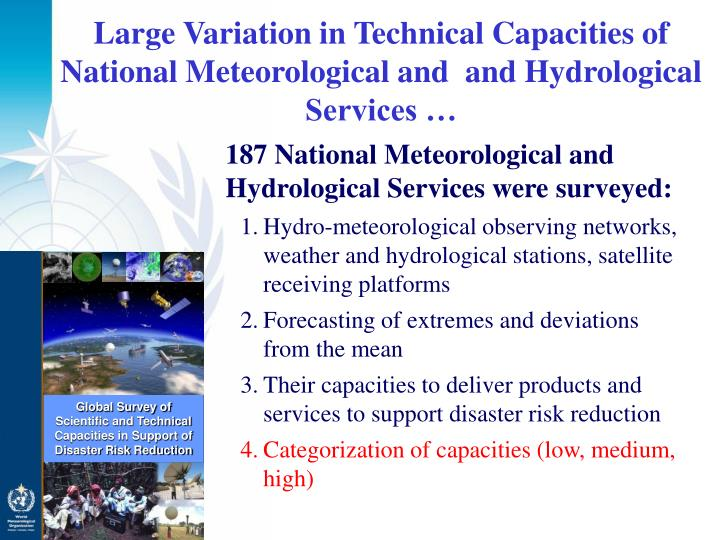 Global Survey of Scientific and Technical Capacities in Support of Disaster Risk Reduction