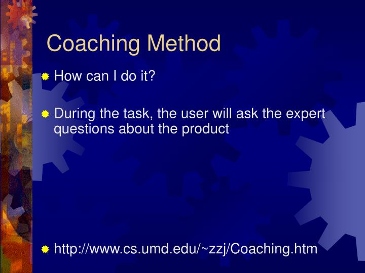 Coaching Method