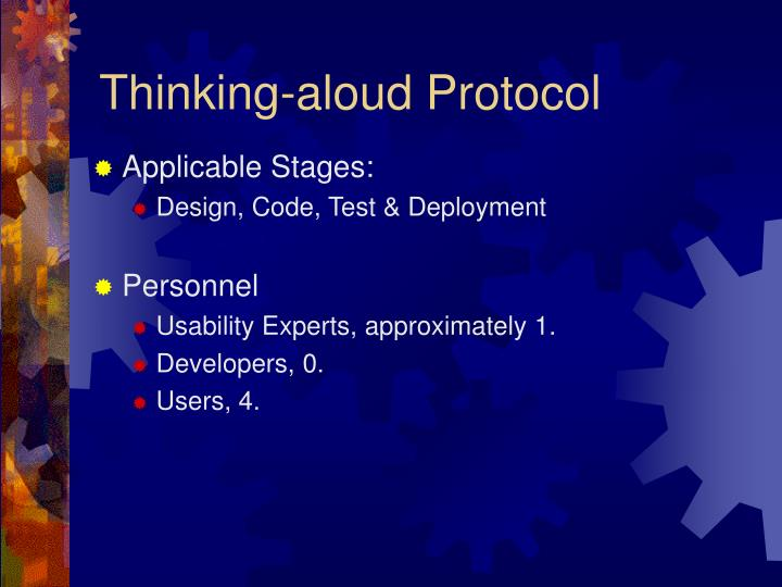Thinking-aloud Protocol
