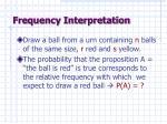 frequency interpretation