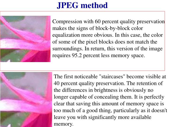 JPEG method