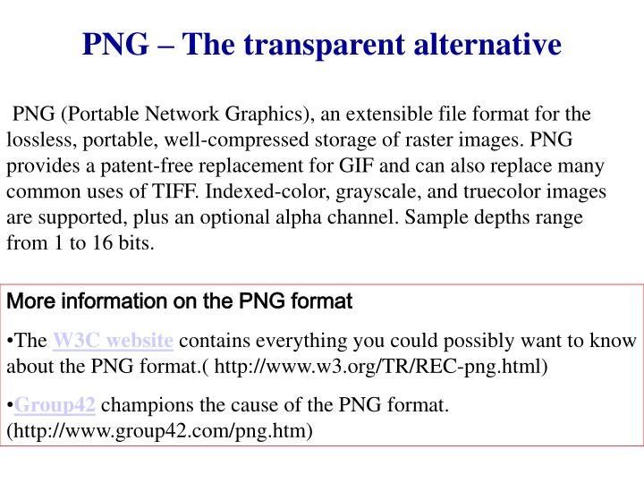 PNG – The transparent alternative