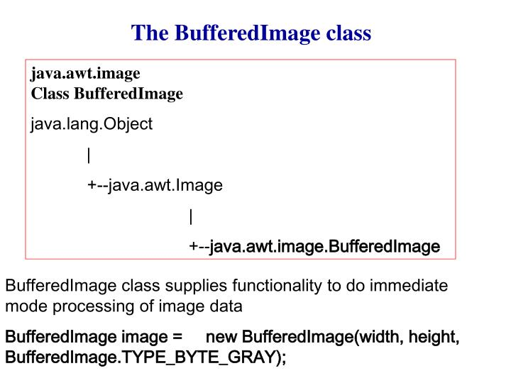 The BufferedImage class