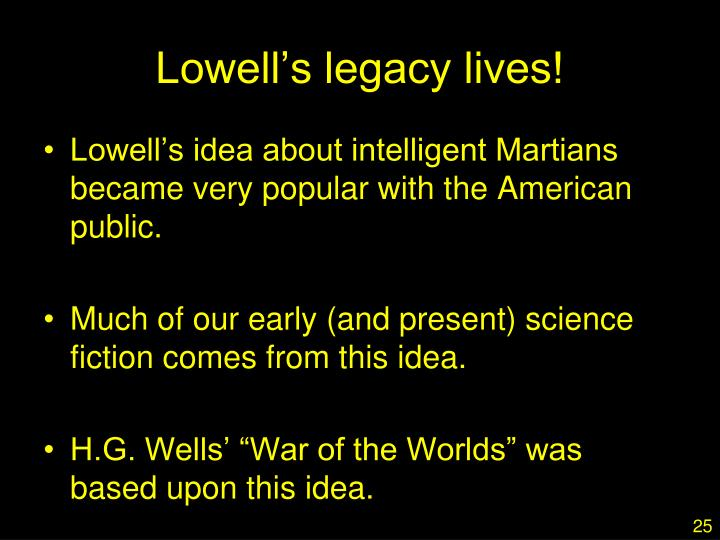 Lowell's legacy lives!