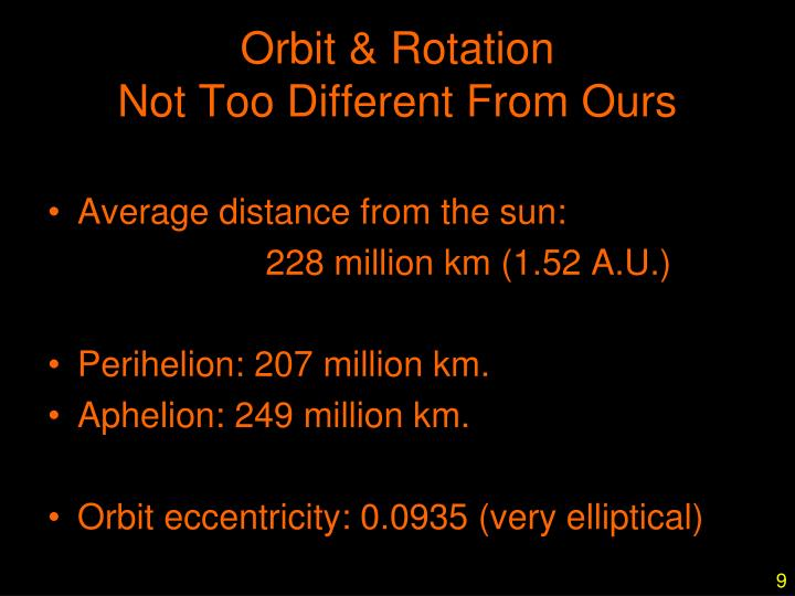 Orbit & Rotation