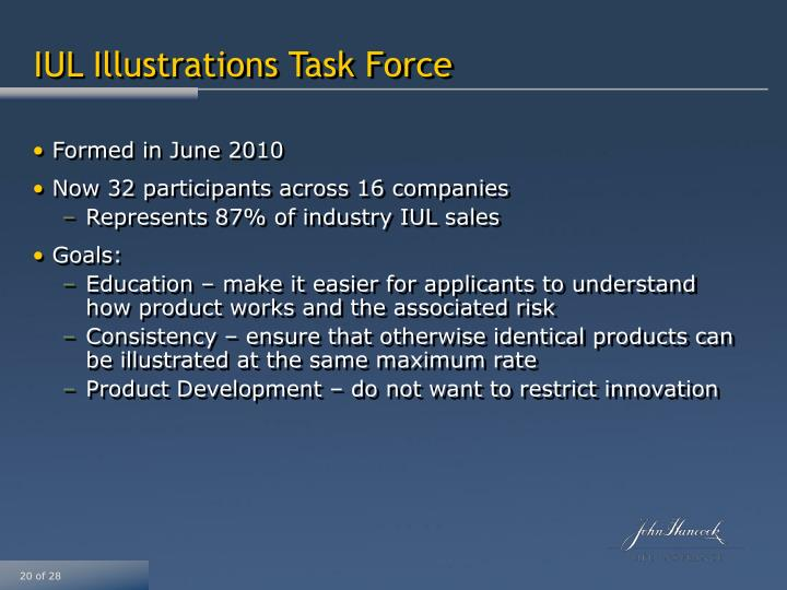 IUL Illustrations Task Force