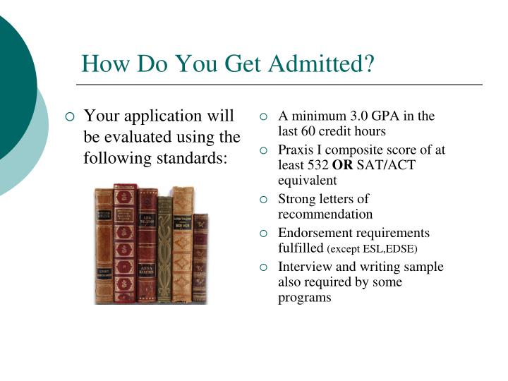 Your application will be evaluated using the following standards: