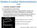 models of cardiac electromechanics organ1