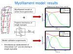 myofilament model results