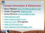 contact information references
