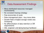 data assessment findings