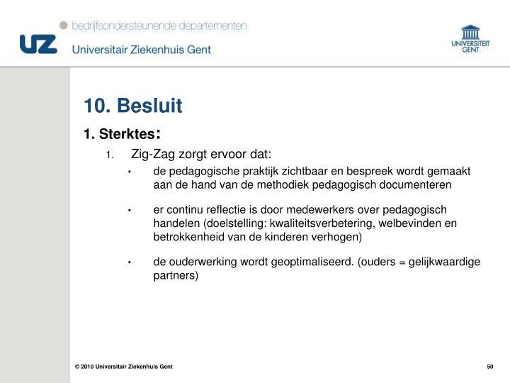 10. Besluit