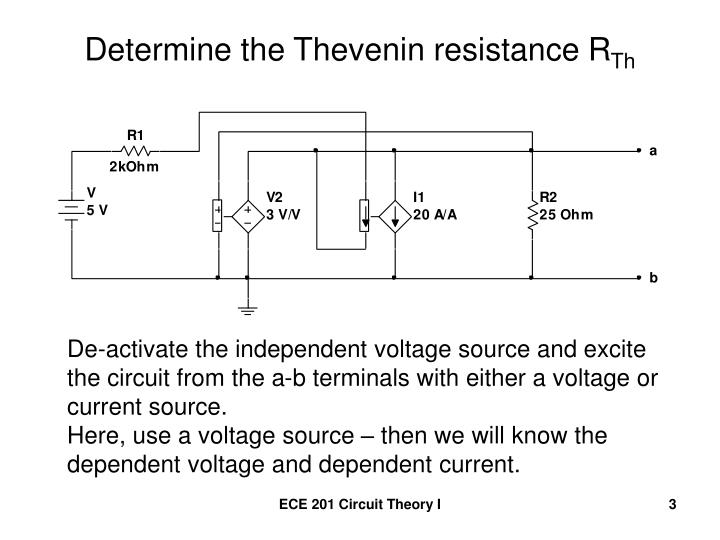 Determine the thevenin resistance r th