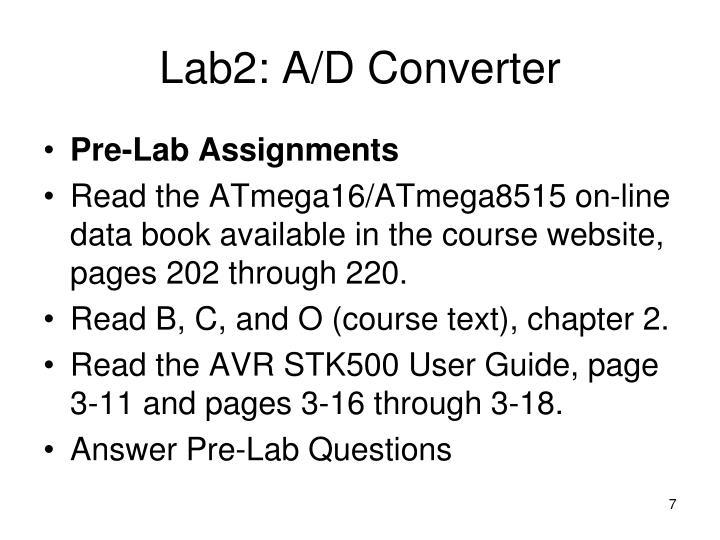 Lab2: A/D Converter