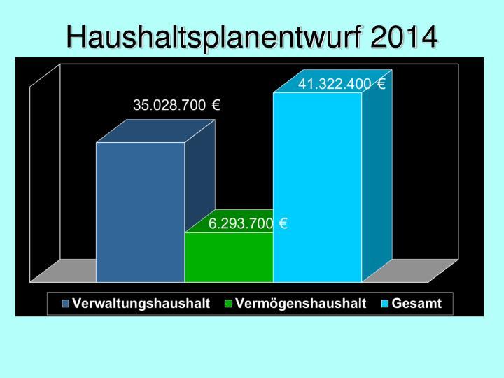 Haushaltsplanentwurf 20141