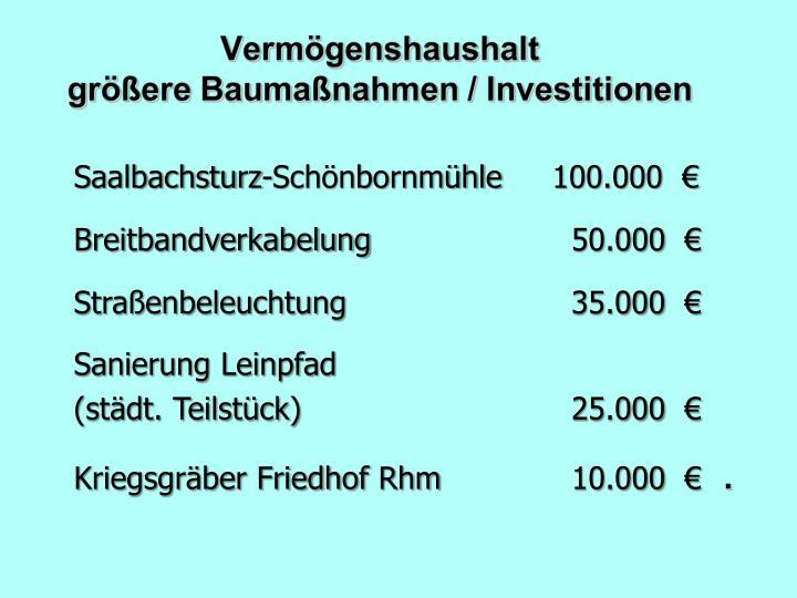 Saalbachsturz-Schönbornmühle100.000  €