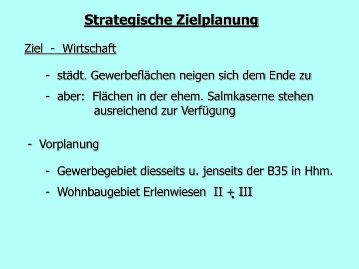 Strategische Zielplanung