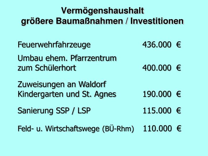 Vermögenshaushalt