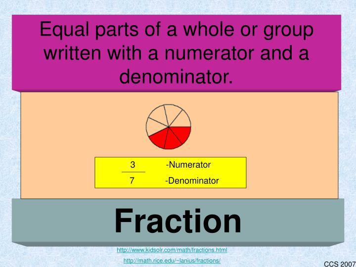 3 -Numerator