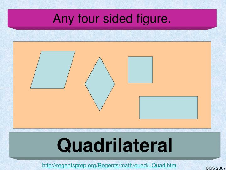 Any four sided figure.