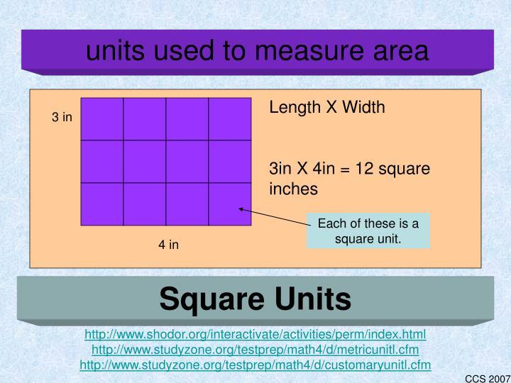 Length X Width