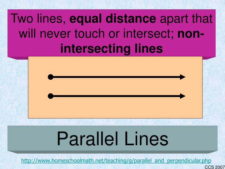 Two lines,