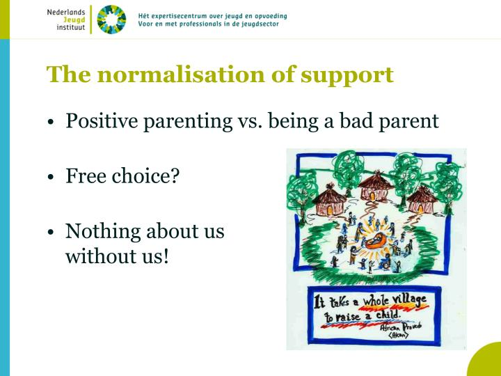 The normalisation of support