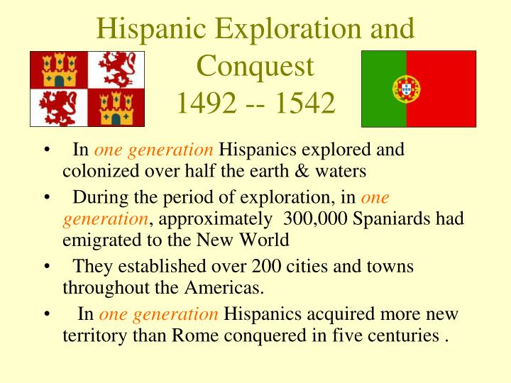 Hispanic exploration and conquest 1492 1542