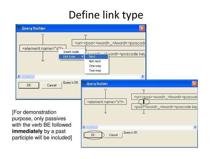 Define link type
