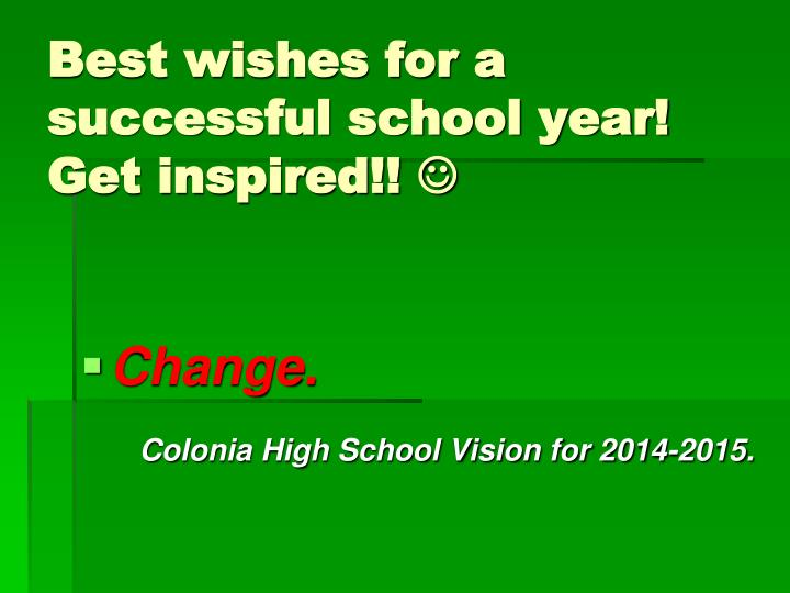 Best wishes for a successful school year!