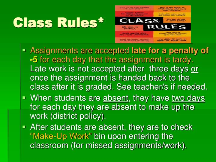 Class Rules*
