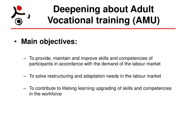 Deepening about Adult Vocational training (AMU)