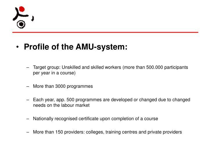 Profile of the AMU-system: