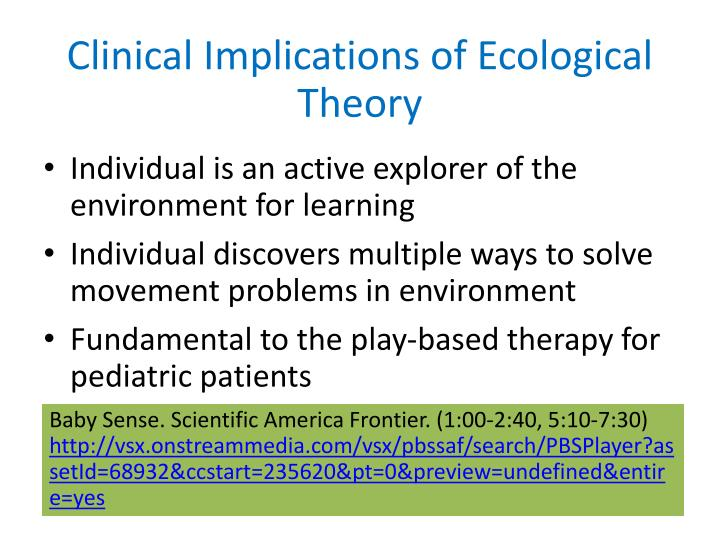 Clinical Implications of Ecological Theory