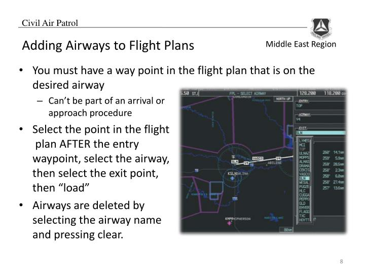 Adding Airways to Flight Plans