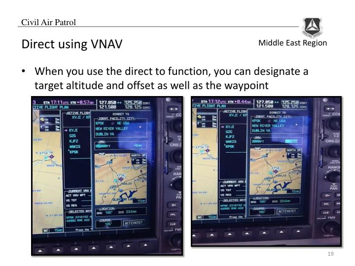Direct using VNAV